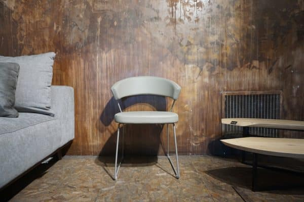 Chaise New-York Cuir Taupe (3)