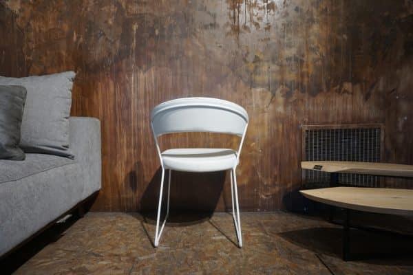 Chaise New-York Cuir blanc opaque (1)