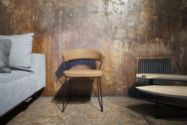 Chaise New-York - Faux cuir Vintage Tabac (1)