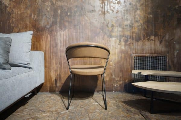 Chaise New-York - Faux cuir Vintage Tabac (3)