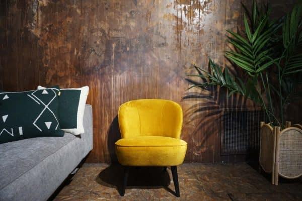 Fauteuil Lounge - Ocre (1)