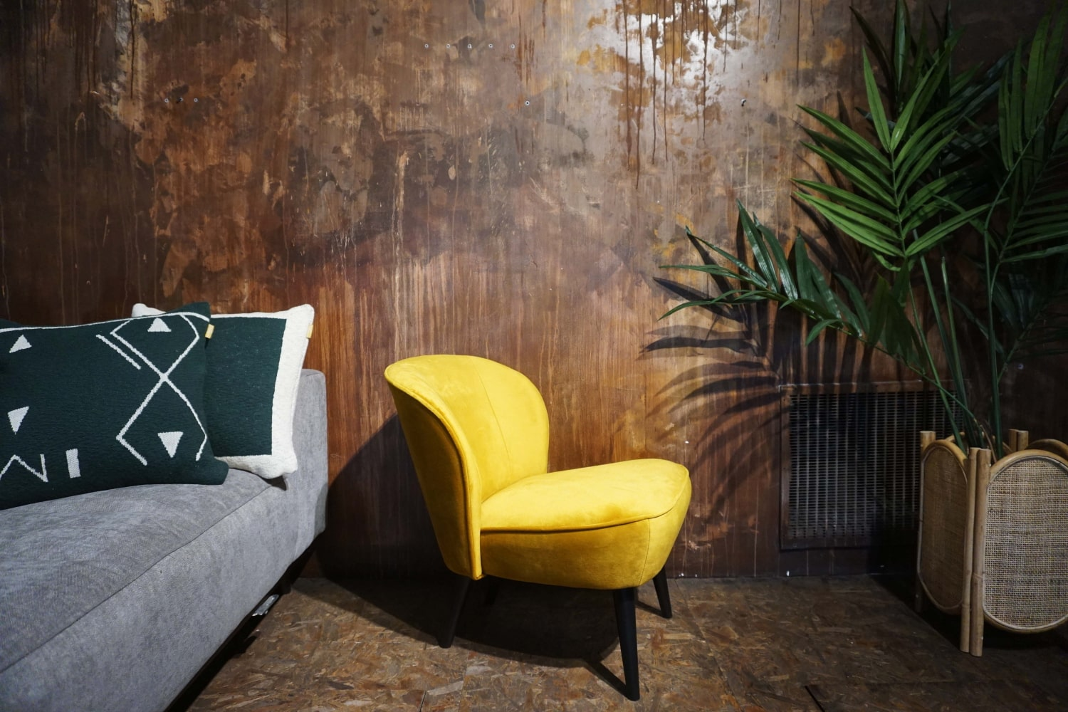 Fauteuil Lounge - Ocre (2)