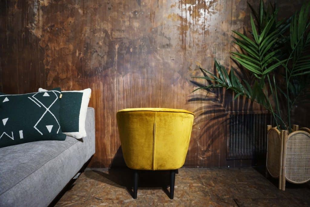 Fauteuil Lounge - Ocre (3)