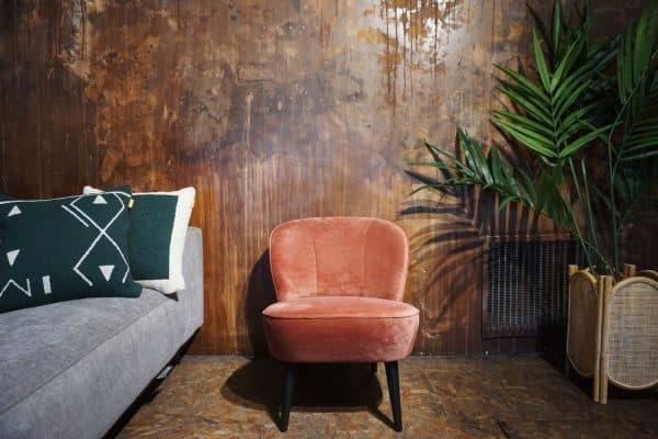 Fauteuil Lounge - Rose Poudre (1)