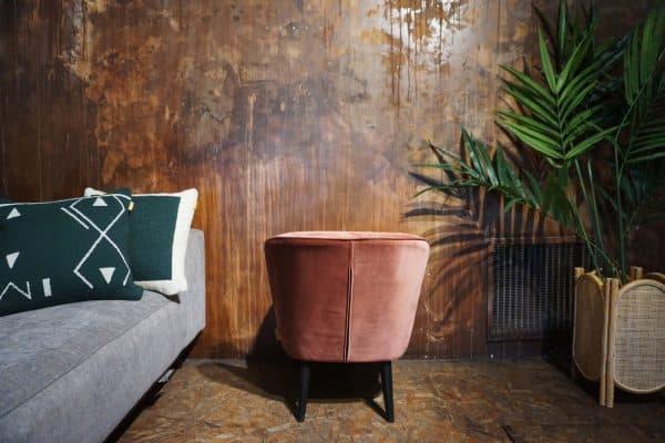 Fauteuil Lounge - Rose Poudre (3)